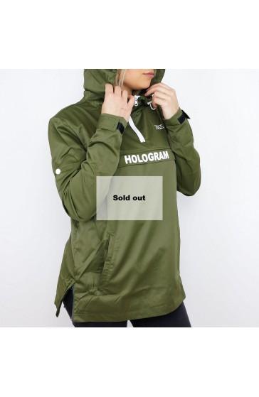 Hologram Rain kaki Windbreaker